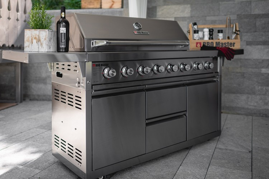 BBQ Master XXL Pro - Stainless steel gas grill